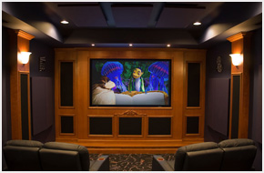 what is a home theater a recital stage for your kids movies better than the commercial cinema football on the 50 yard line slumber party paradise - Home Theater Stage Design